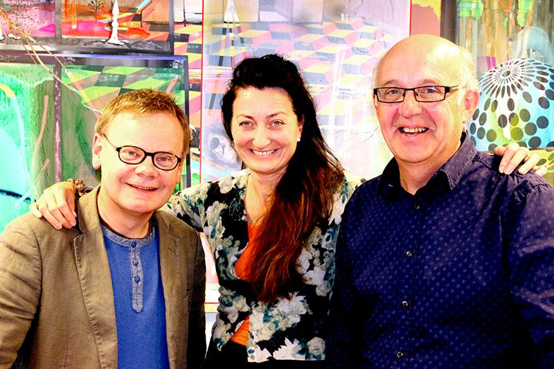 Leken trio: Johan Magnus Elvemo, Maj-Britt Moser og Bertil Palmar Johansen. Foto: Idun Haugan