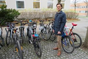 Bilfri dag er ett av syv anbefalte tiltak som monner, og da er sykkelen god å ha, mener Kjartan Steen-Olsen. Foto: NTNU/Maren Agdestein
