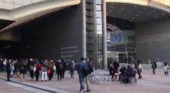 EU-parlamentet i Brussel er EUs administrative hjerte. I tillegg til alle de som arbeider her, besøkes det daglig av mange. Foto: Idun Haugan/NTNU
